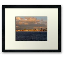 Seattle In Gold...Seattle, Washington Framed Print