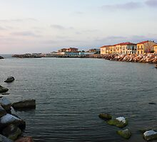 Marina di Pisa sunset view of the town by kirilart