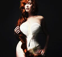 Christina Hendricks as Georgia O'Keeffe Flower by michaelroman