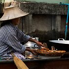 Fried bananas on the river by madebykarl