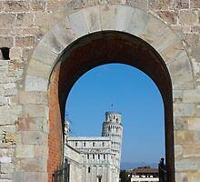 Entrance to piazza dei miracoli in Pisa by kirilart