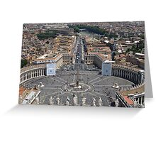 St Peters Square in Vatican Greeting Card