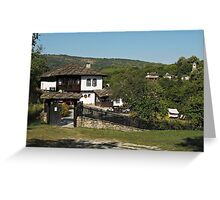 Traditional house in Architectural Preserve Bojenci Greeting Card