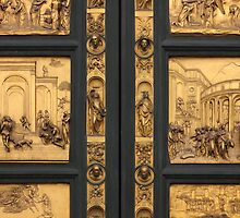 Doors of Paradise detail of The Florence Baptistry by kirilart