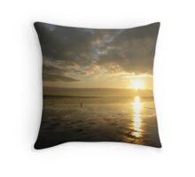 Couple in love on the ocean coast Throw Pillow