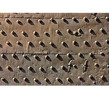 Ancient metal fortification gates Photographic Print