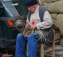 Basket Weaver - Castiligione del Largo   by Francis Drake