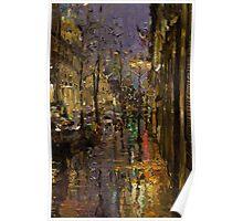 Evening Rain in Paris Poster