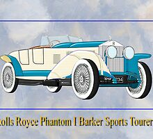 Rolls Royce Phantom I Barker Sports Tourer 1926 by Dennis Melling