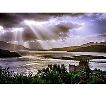 Sun Rays over Eilean Donan Castle Photographic Print