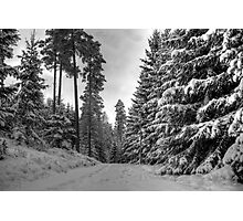 Winter in Forsheda's track II Photographic Print