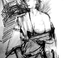 LifeDrawing Study 7. by Andrew Nawroski