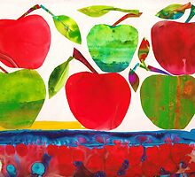 I Eat Six Apples, crunch crunch crunch by Kathy Panton