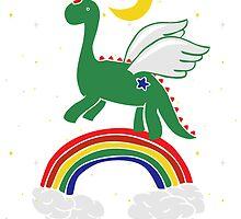 """Follow Your Dreams"" Mystical Dinosaur by Amy Grace"
