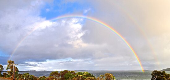 Easter Sunday Rainbow by Ian Berry