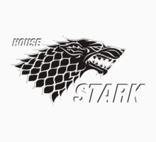 Game of thrones ,House Stark black printed by morigirl