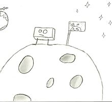 Cube on the moon by Scott Hootman