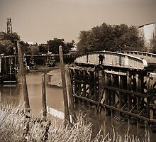 Swing Bridge by Uplandswolf