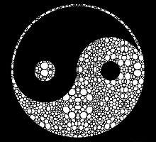 Perfect Balance 2 - Yin and Yang Stone Rock'd Art by Sharon Cummings by Sharon Cummings