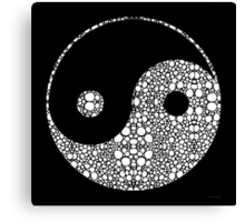 Perfect Balance 2 - Yin and Yang Stone Rock'd Art by Sharon Cummings Canvas Print