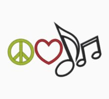 Peace Love Music by gleviosa
