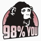 98 percent you monkey by Cheesybee