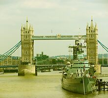Tower Bridge and HMS Belfast by MikeOimages