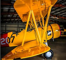 Yellow PT17 Stearman Bi-plane by chris-csfotobiz