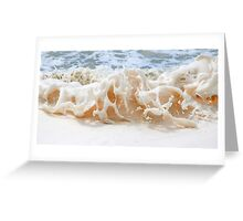 sea foam. Greeting Card