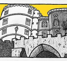 Pena Palace in yellow by Emma Bennett