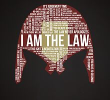 Judge Dredd Typography by Carlosthellama