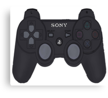 Playstation 3 Controller Canvas Print