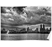 Storm Clouds Over Central Park Poster