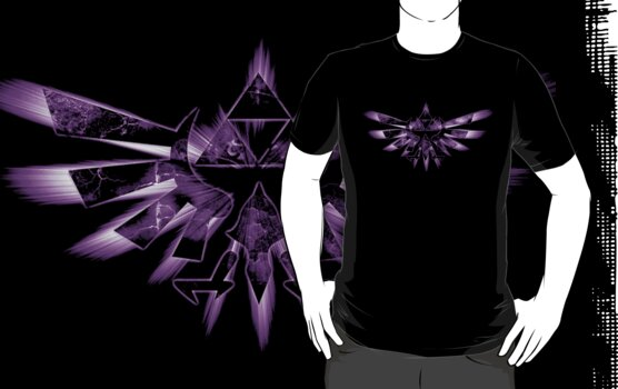 Purple Legend of Zelda Triforce by MrP1ckles