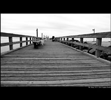 Cedar Town Beach Wooden Pier - Mt. Sinai, New York by © Sophie W. Smith