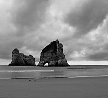 Archway Islands at Wharariki Beach by Duncan Cunningham