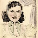 Paulette Goddard pencil sketch by ChrisNeal