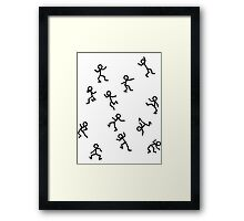 Dancing Stickmen Framed Print