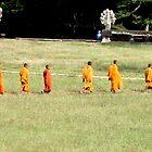 Monks at Angkor Wat, Cambodia by sarahgotts