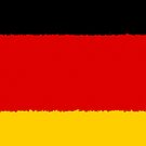 Iphone Case - Flag of Germany - Horizontal Painted by Mark Podger