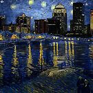Future Starry Night on the Rhone  by Charles McFarlane