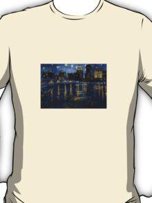 Future Starry Night on the Rhone  T-Shirt