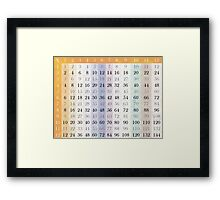 My Time Tables Framed Print