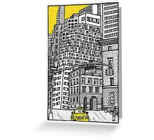 New York yellow taxi Greeting Card