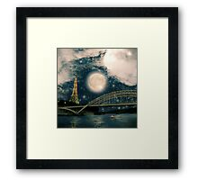 One Starry Night in Paris Framed Print