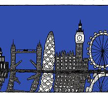 London skyline by Emma Bennett