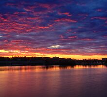 Sunset on the Huron River by DArthurBrown