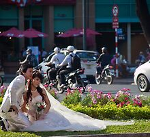 Vietnam. Ho Chi Minh City (Saigon). Bride and Groom. by vadim19