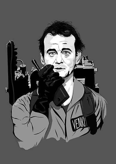Ghostbusters Peter Venkman Bill Murray illustration by Creative Spectator
