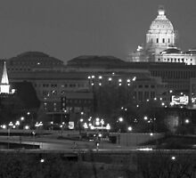 Black & White St. Paul MN. Capitol by Tina Hailey
